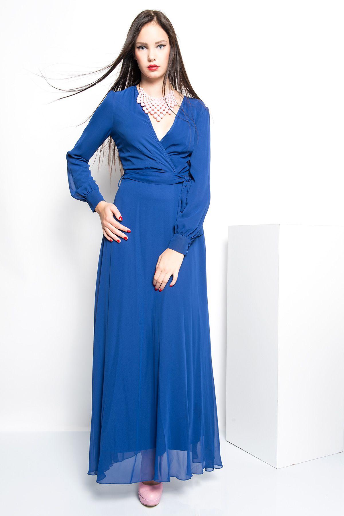 dd5f2f2199e16 İRONİ UZUN ŞİFON ELBİSE :: www.finansevim.com | Bayan Giyim | Giyim ...