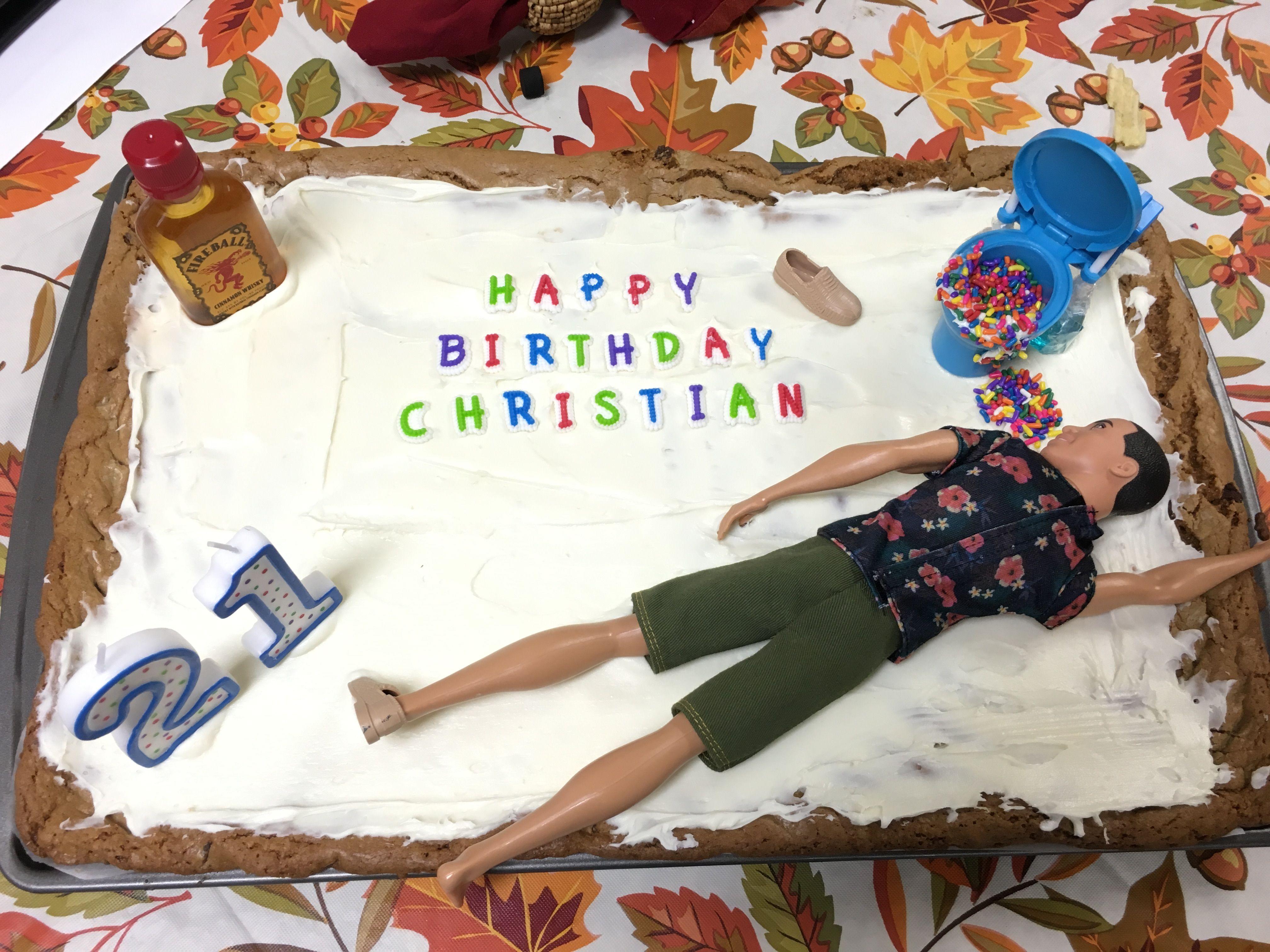 21st Birthday Cake For Boys