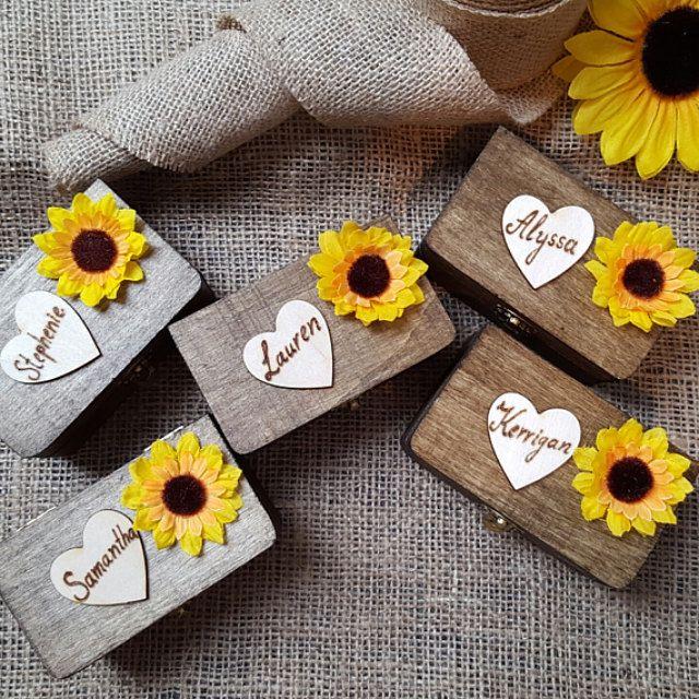 Sunflower Rustic Shabby chic Country wedding by HappyWeddingArt