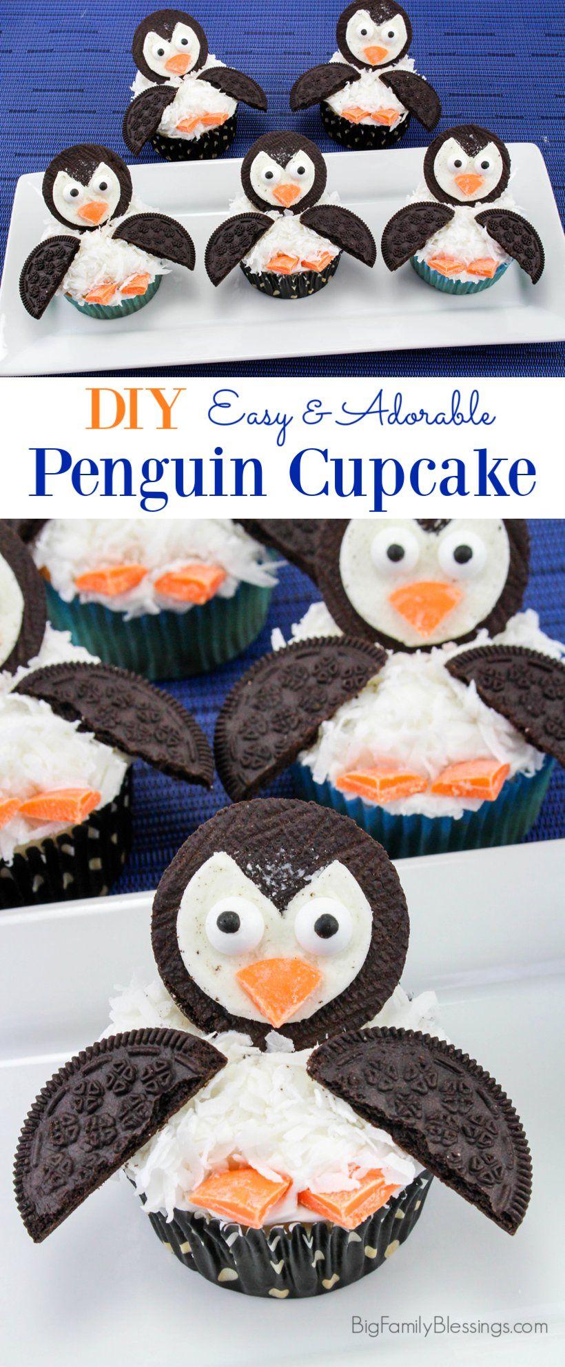 Easy & Adorable Penguin Cupcakes | Penguin cupcakes, New birthday ...
