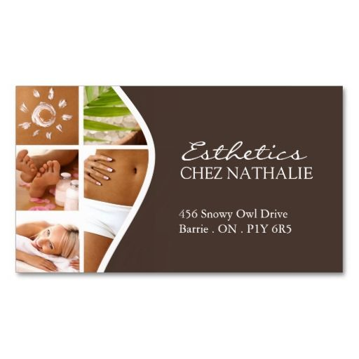 Salon and spa business card pinterest business cards business salon and spa business card reheart Gallery