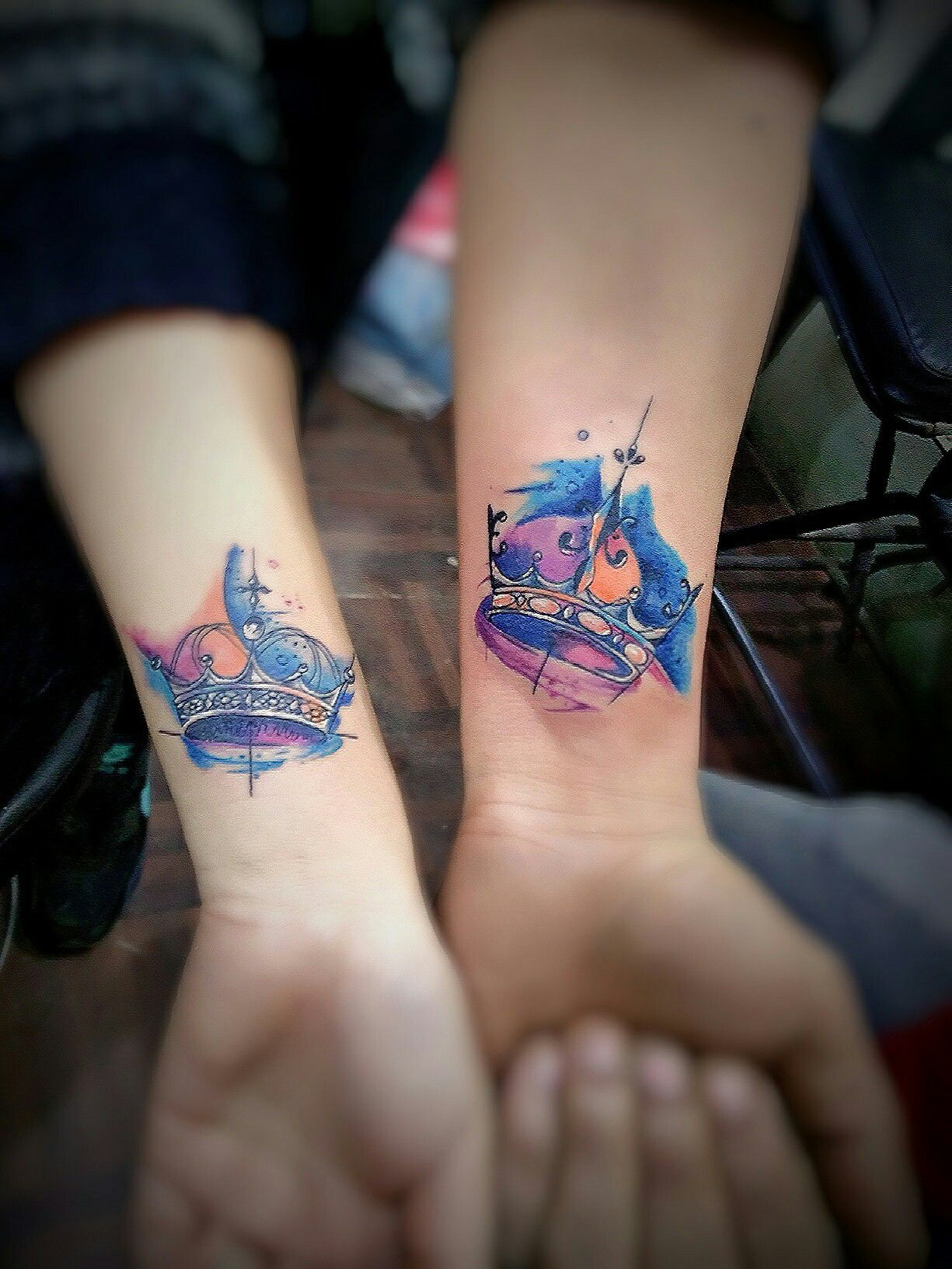 a7039241b couple crown tattoo | frenz tattoo inn | Couple tattoos, Couple ...