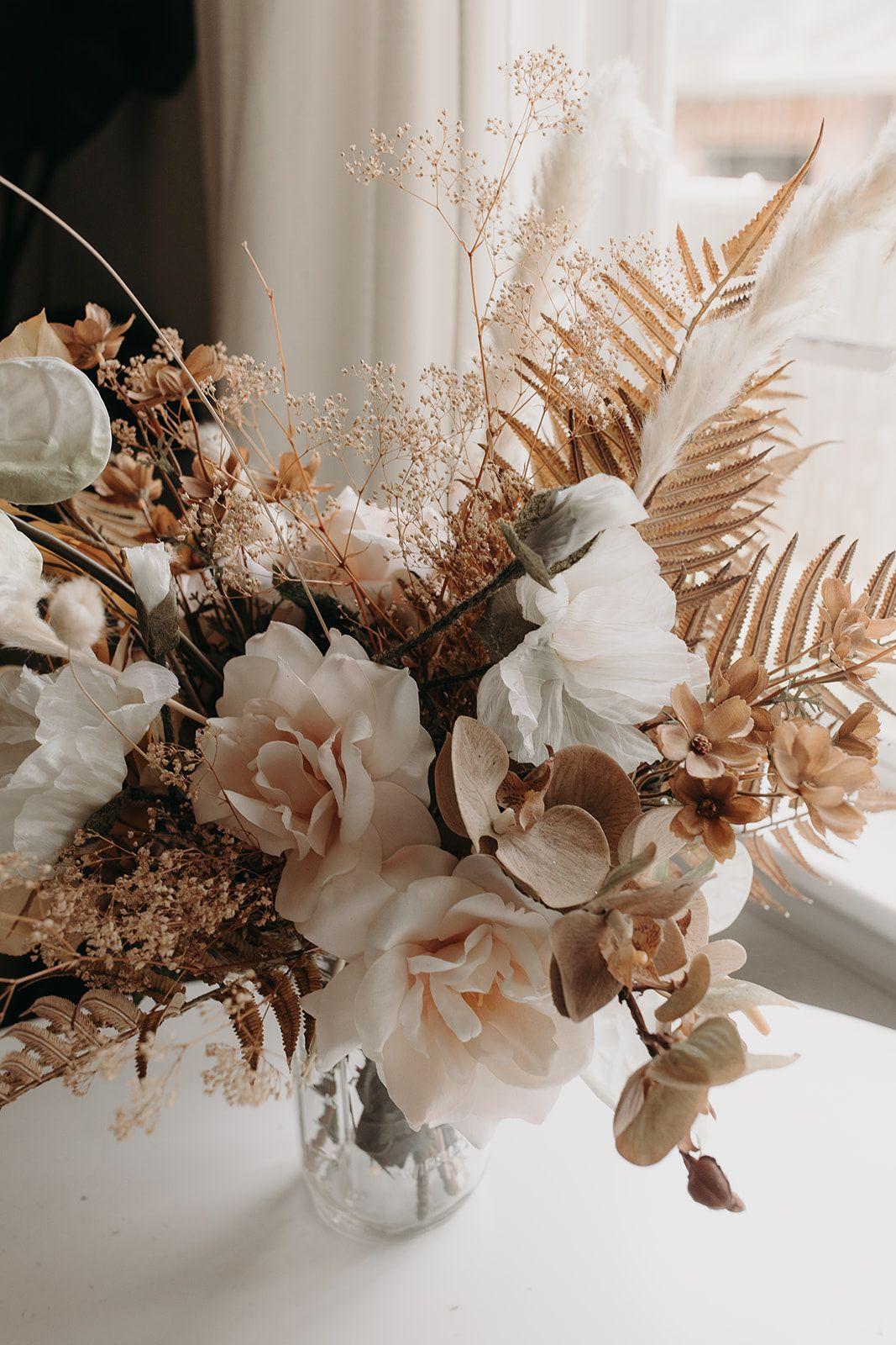This DIY Silk Bridal Bouquet is a Boho Dream