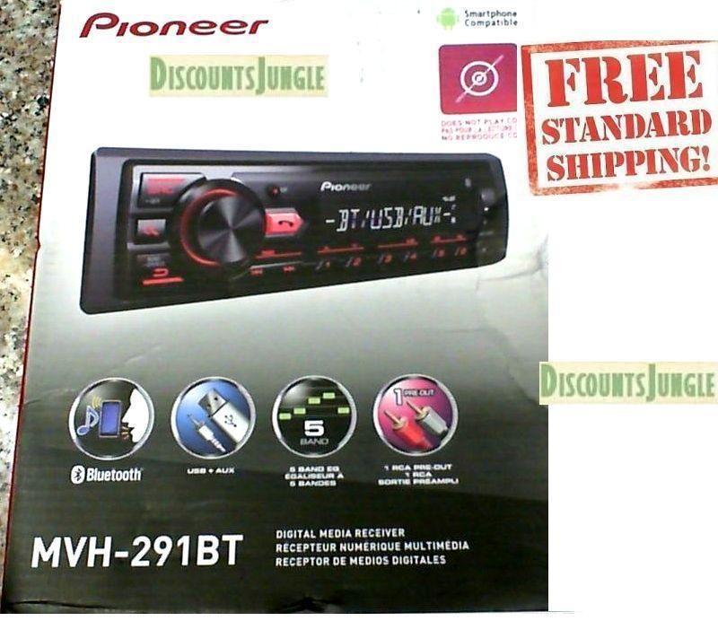 Us Deals Audio Pioneer Mvh 291bt Car Stereo Media Player Bluetooth