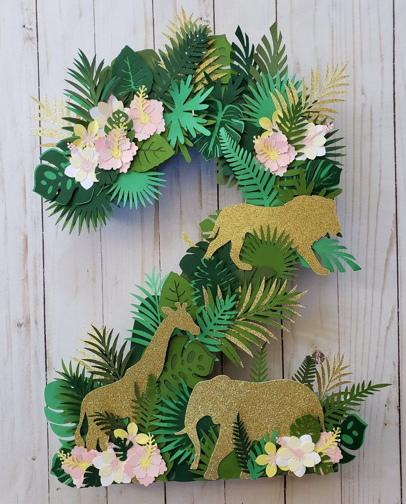 Safari Number Safari Birthday Party Theme Jungle Animal Birthday