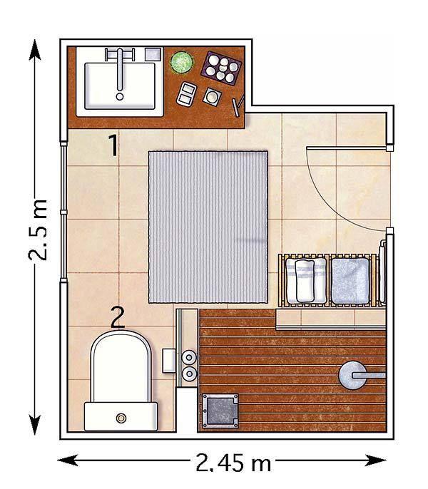 7 reglas de oro del dise o de ba os peque os basement for Diseno de banos de visita pequenos