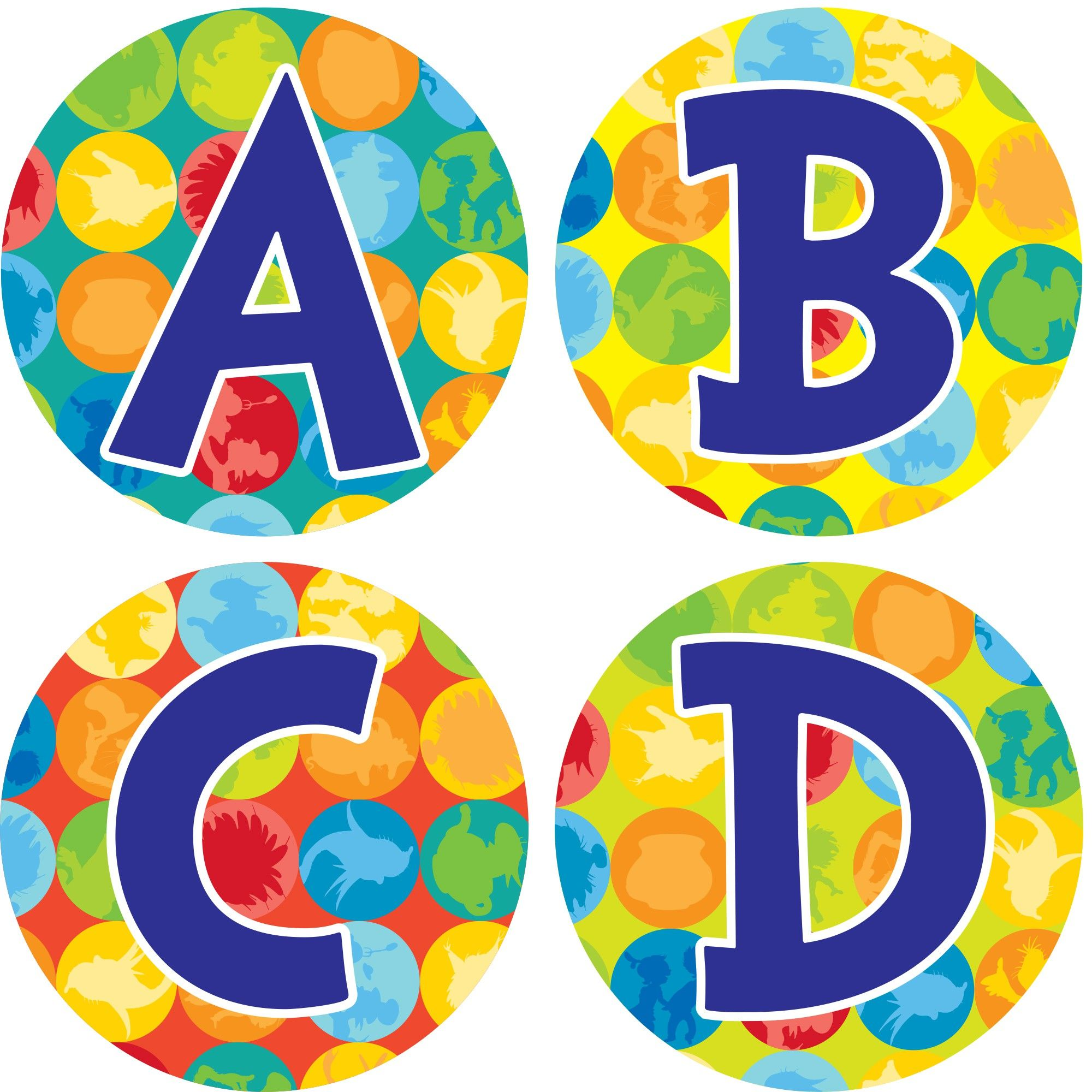 Dr Seuss Spot On Alphabet Lettering