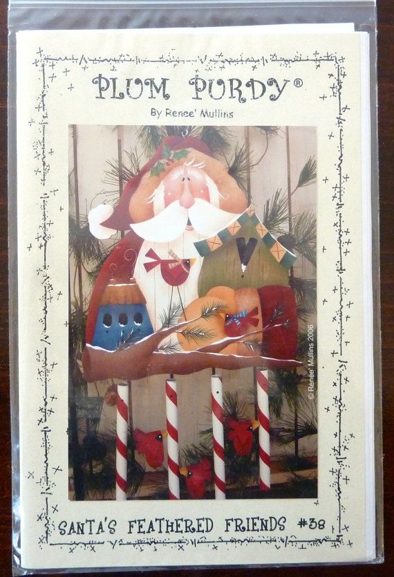 Tole Painting Pattern Santa S Feathered Friends Plum Purdy By