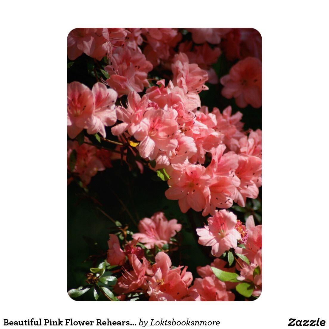 Beautiful Pink Flower Rehearsal Dinner Invitation | Other Wedding ...