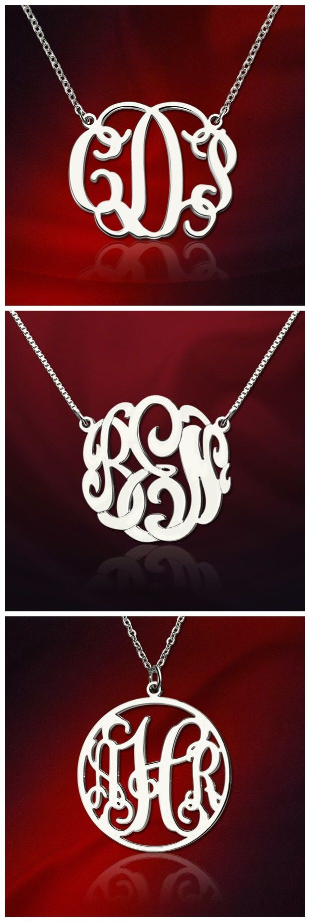 Enjoying the latest fashion trend that movie stars and famous singers have been wearing has never been so easy with the Sterling Silver Monogram Necklace! It is a funky way to show off your own style and uniqueness.Find more items at GETNAMENECKLACE .COM