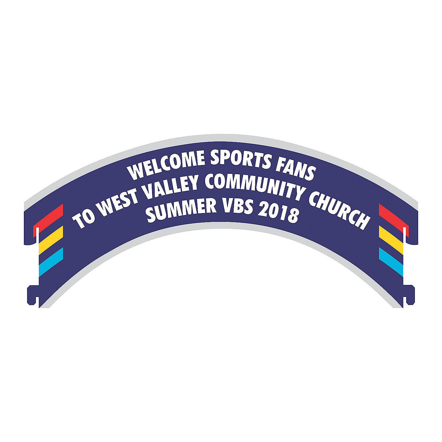 Personalized+Sports+VBS+Stadium+Archway+Sign+