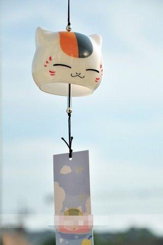 Natsume/'s Book of Friends Wind Bell  Hangings Nyanko Sensei Wind Chime Ceramics