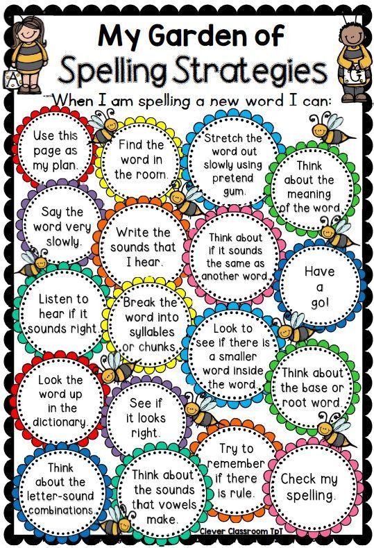My Garden of Spelling Strategies Spelling word practice