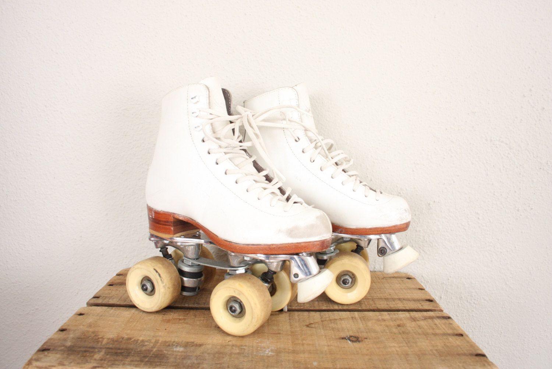 Vintage Roller Skates White Retro Skates Vintage Roller Roller Skates Vintage Roller Skates Roller