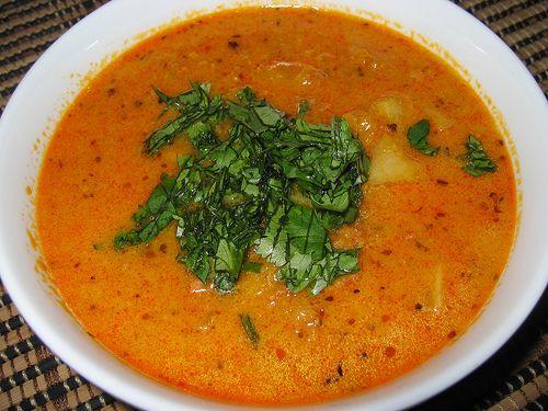 Pumpkin & Chorizo Soup with Cilantro...perfect for fall -- OMG, YUUUM!