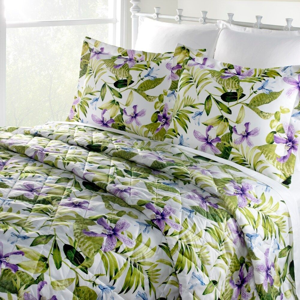 Purple tiger lily Montego Bay Quilt only (Full) in 2020