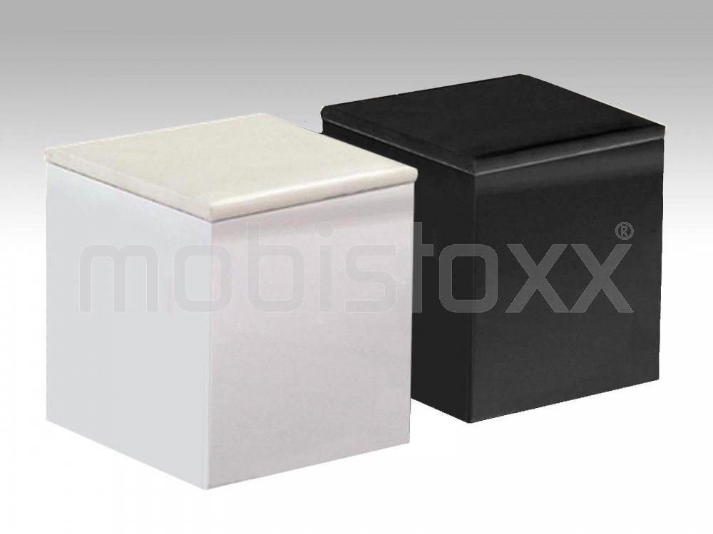 Lot de poufs deesse carré noir blanc mobistoxx votre