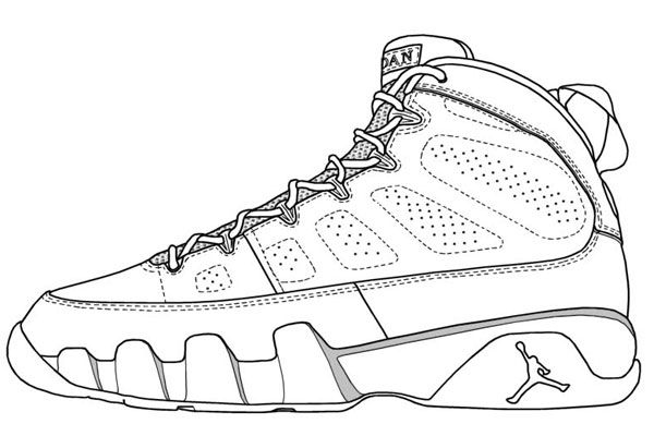 shoes coloring pages | Sneakers drawing, Jordan coloring ...