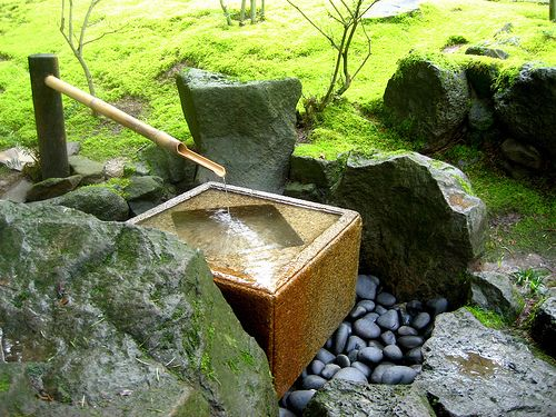 Japanese Home Garden Ideas With Water Feature. Water And Sound.