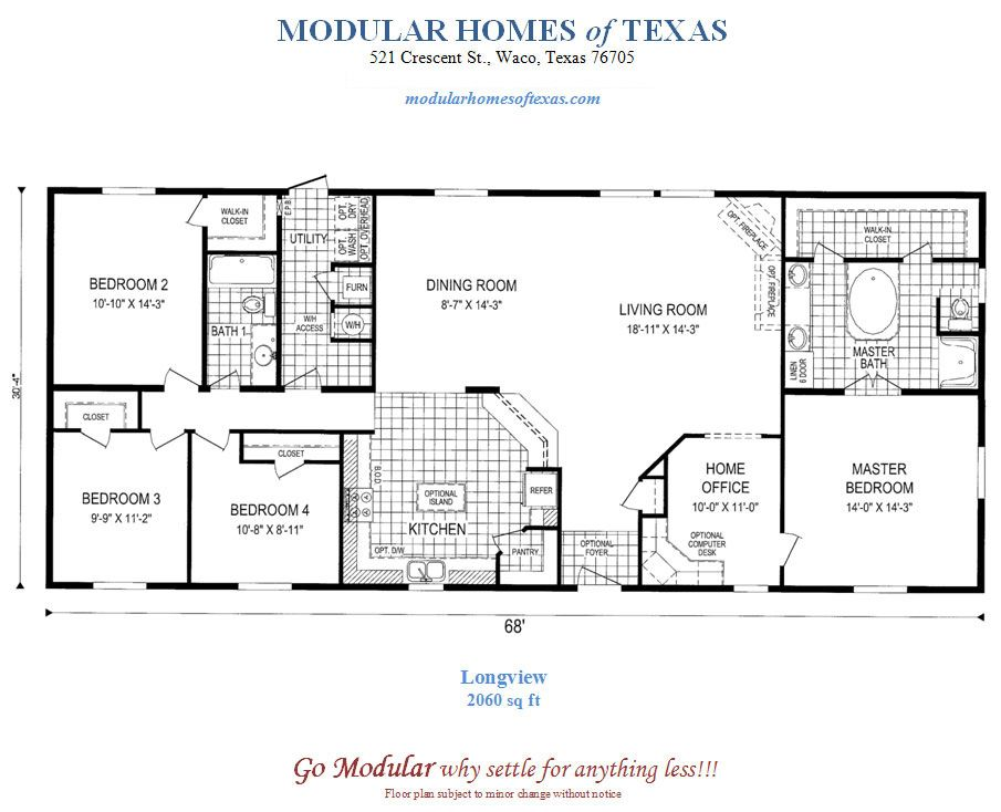 Floor Plans For Modular Ranch Waterfront Homes One Story Modular