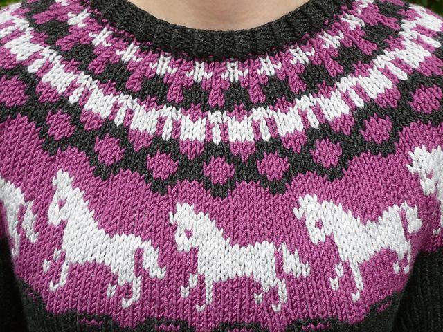 Horse/Unicorn Knit Sweater - Free Pattern   Kids knitting ...