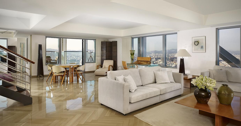 Royal Duplex luxury Apartment living room, Hotel Arts ...