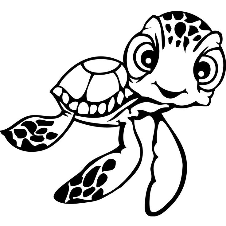 Finding nemo turtle colouring pages