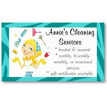 Housekeeping Housekeeping Pinterest Cleaning Business Cards