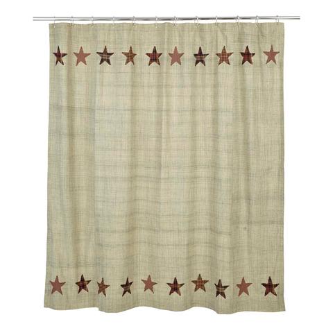 Abilene Star Shower Curtain Primitive Bathrooms Country