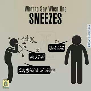 #etiquette #character #sneeze #muslim #say #islam #sunnah #hadith #الإسلام مسلم حديث