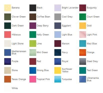 Port Authority K500 Silk Touch Polo Color Chart from NYFifth
