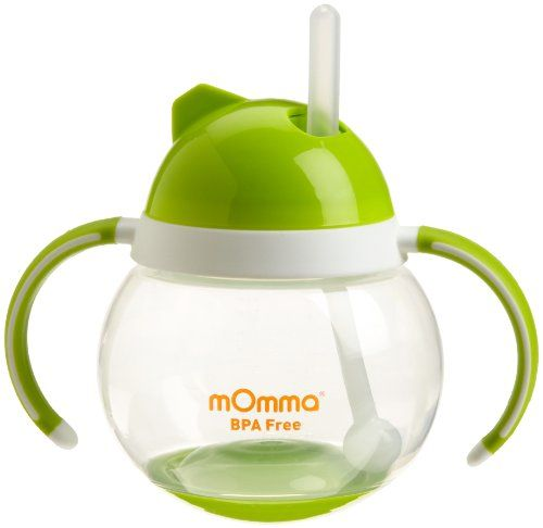 Lansinoh Momma Straw Cup With Dual Handles Green Lansinoh