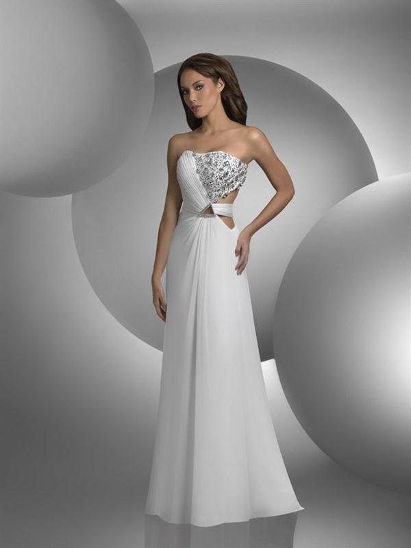 Modelos de vestidos largos blancos