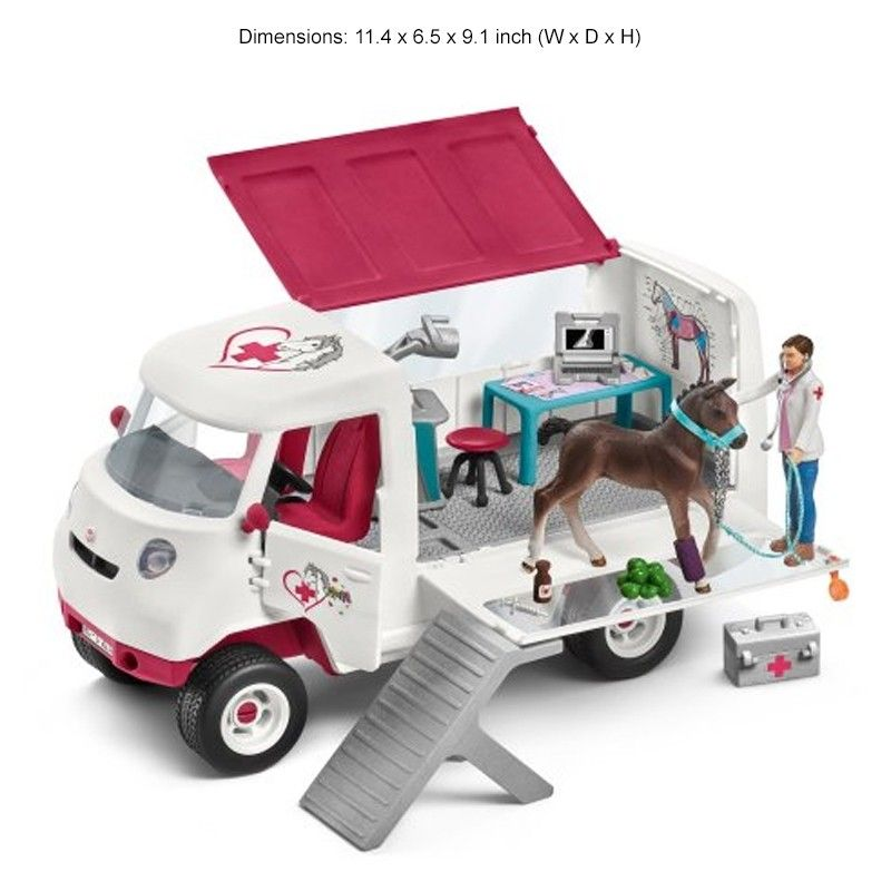Riding school with pick-up and horse box 42403 Schleich Horse World item /</>/<