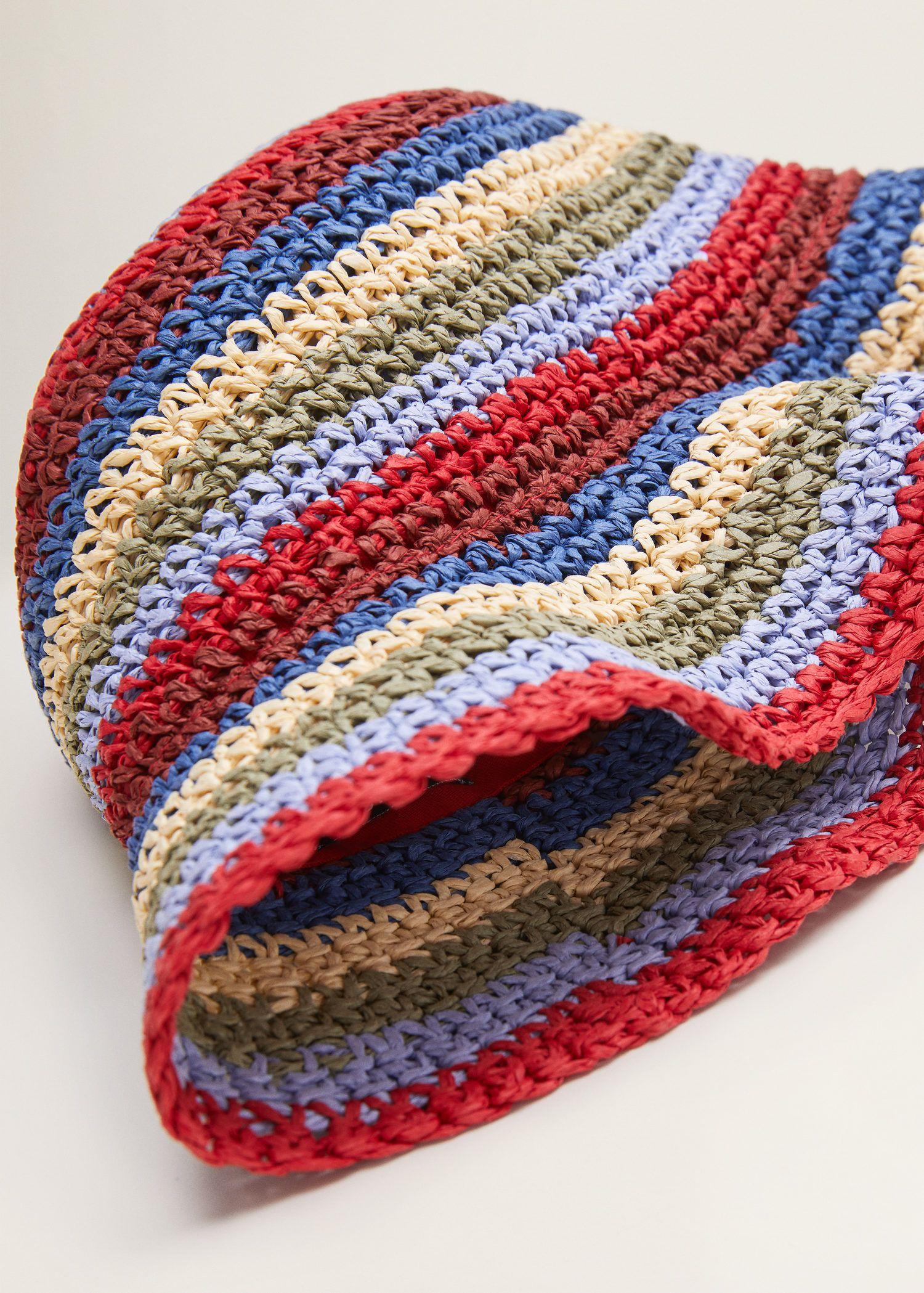 Braided Bucket Hat Women Mango Usa Crochet Hats Crochet Accessories Crochet Bag