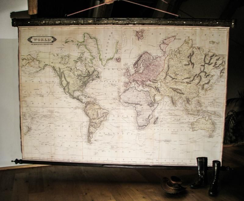 Beautiful large world map 1831 canvas antique wooden iron pirate beautiful large world map 1800 canvas antique wooden iron pirate industrial frame giant wall decor huge wall framed world map gothic vintage gumiabroncs Choice Image