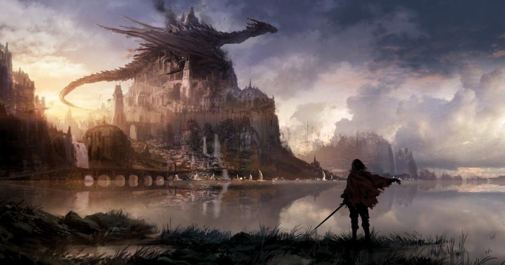 13 Wallpaper Anime Fantasy Landscape Anime Sci Fi Wallpapers Top Free Anime Sc In 2020 Fantasy Landscape Sci Fi Wallpaper Fantasy Art Landscapes