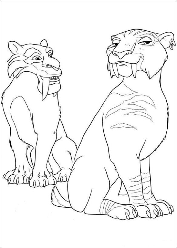 12 coloring pages of Ice Age 4 Continental Drift on Kids-n-Fun.co.uk ...