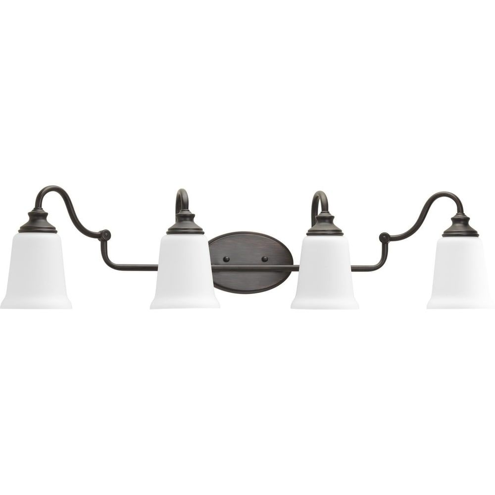 Photo of Progress Lighting Wander steel 4-light bath (Venetian bronze), brown