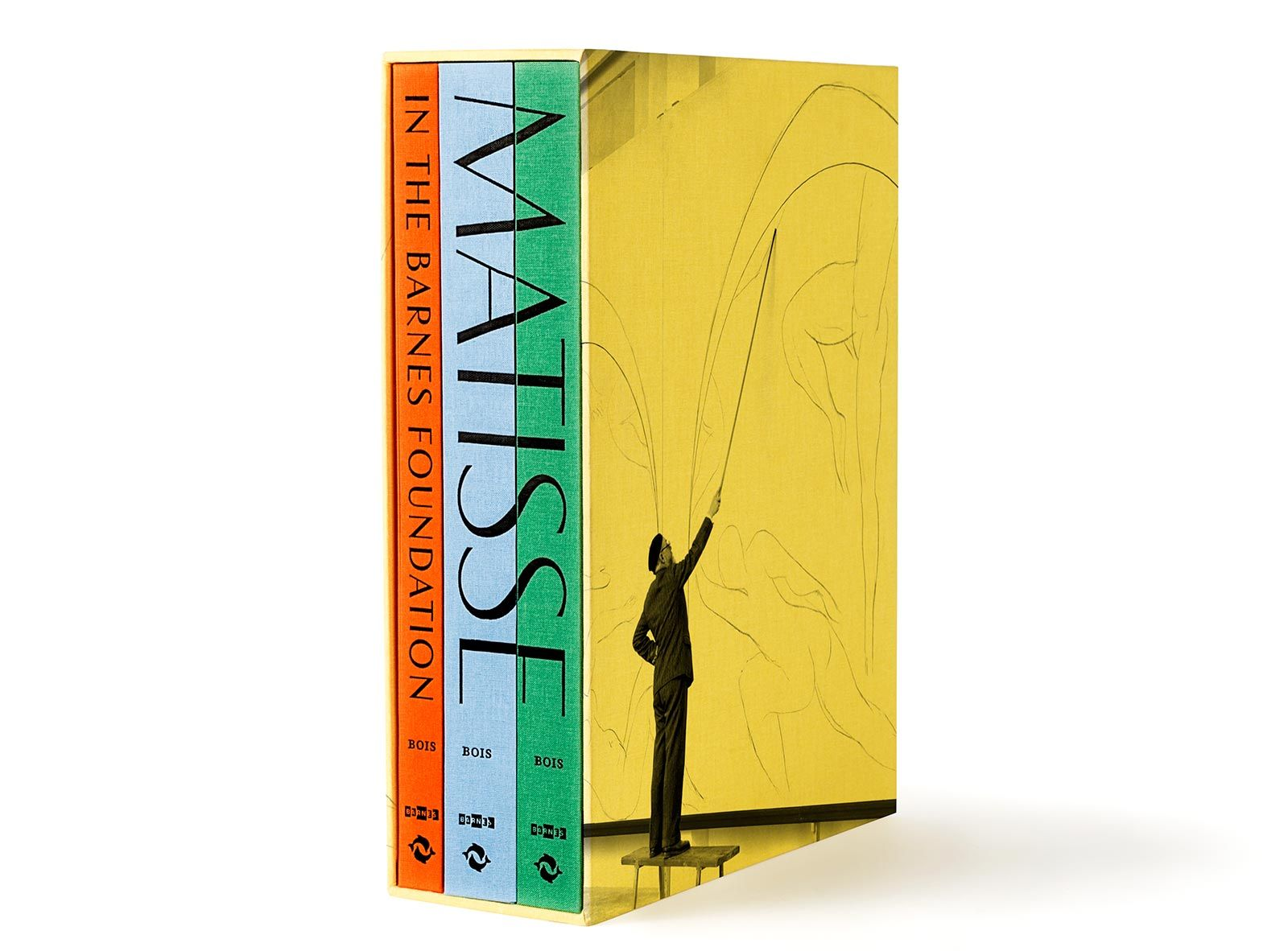 'Matisse in the Barnes Foundation' Slipcased three-volume set that presents the Barnes Foundation's complete holdings of Matisse, one of the most significant collections of the artist's work in the world.   Pentagram