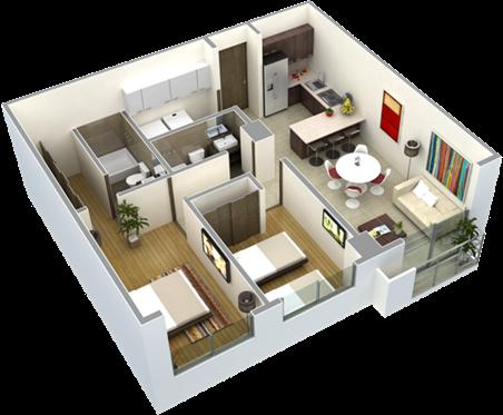 Planos de casas de una planta 2 recamaras buscar con for Planos de casas 1 planta