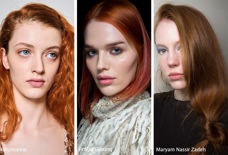 Fall Winter 2019 2020 Hairstyle Trends Winter Hair Color Red