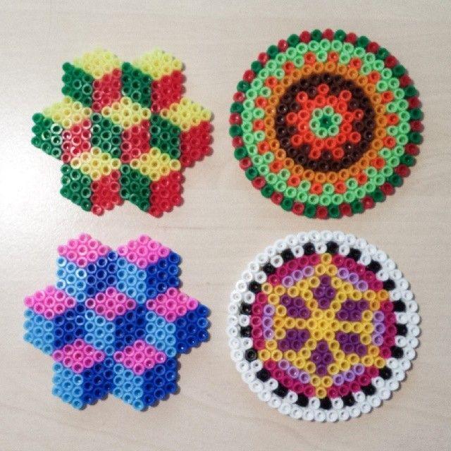 Geometric and Mandala designs perler beads by gasbjerg