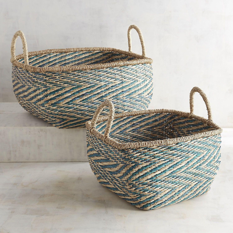 Sonnet Seagrass Basket Set Basket Basket Decoration Wicker Baskets