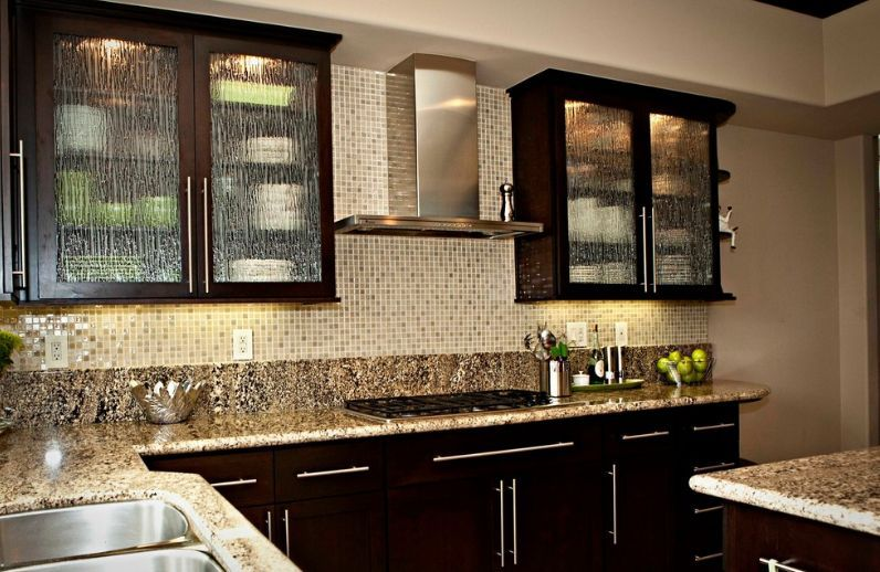 how to use rain glass to make a splash and enhance your décor glass kitchen cabinet doors on kitchen cabinets with glass doors on top id=76178