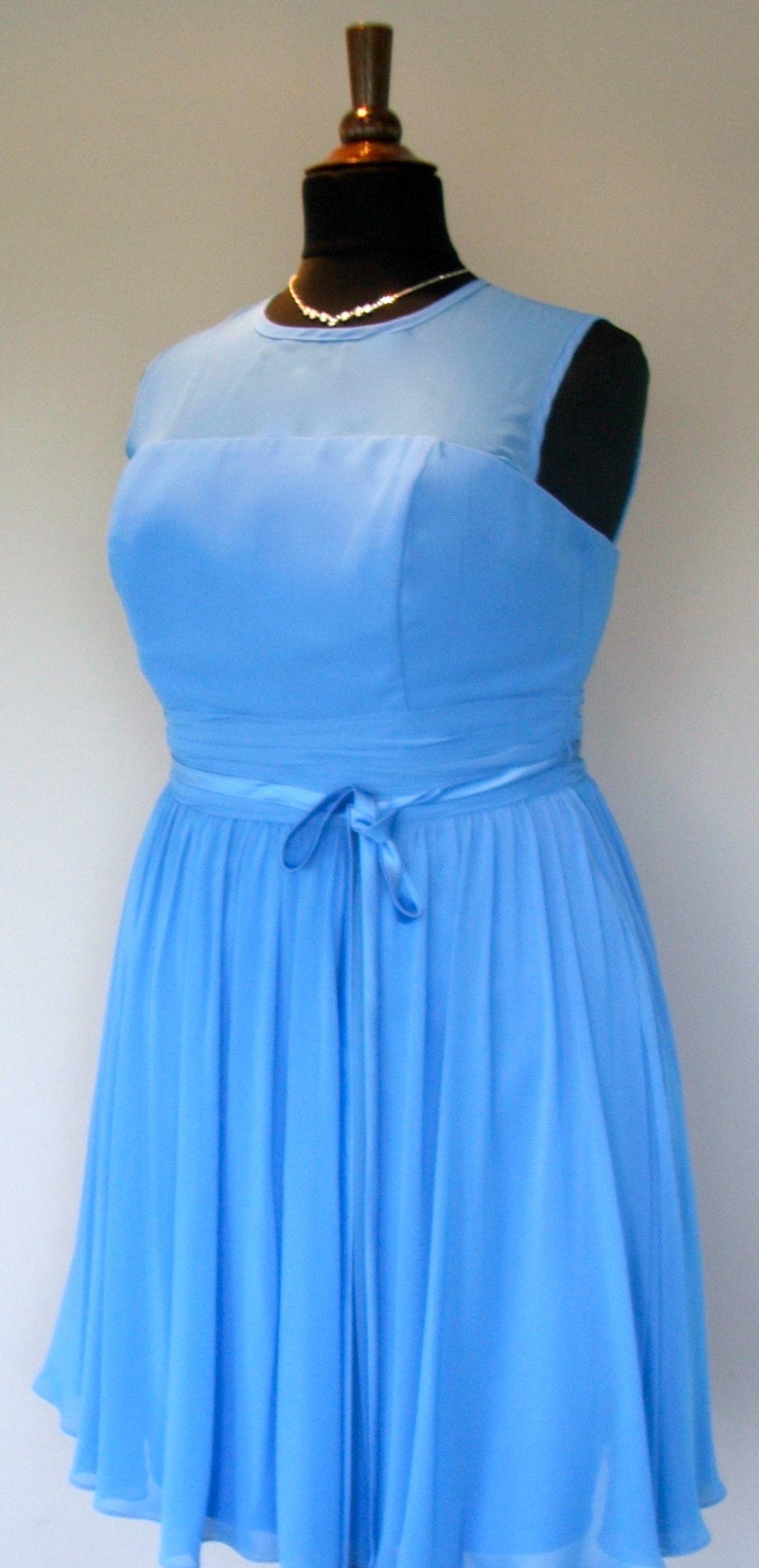 Illusion top plussize bridesmaid dress at koda bridal bridesmaid