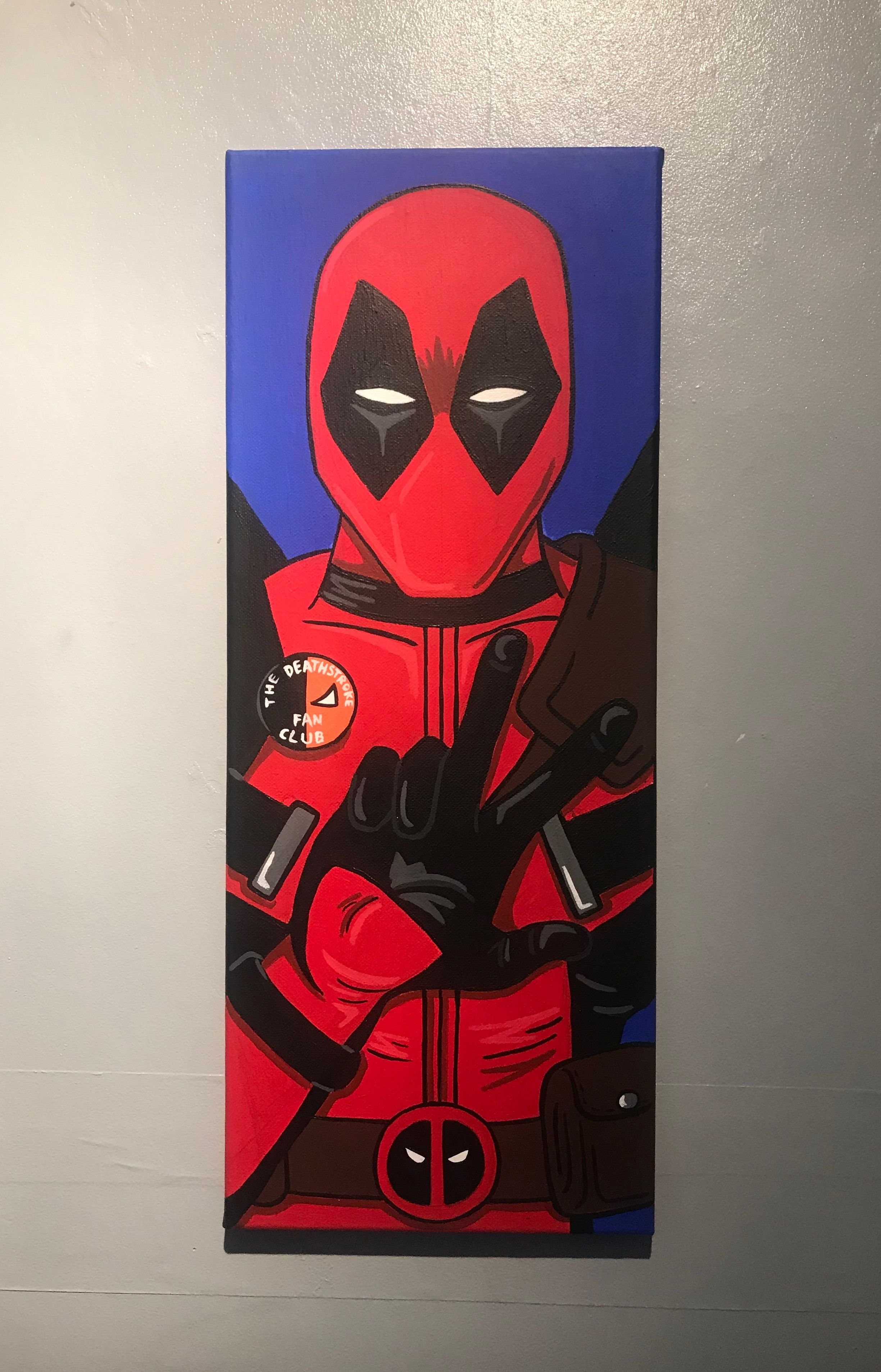 Deadpool canvas art in 2019 canvas painting projects art