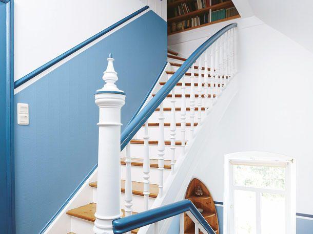 Treppenhaus wände neu gestalten  Gelungener Aufgang: Treppenaufgang neu gestalten | unter der ...