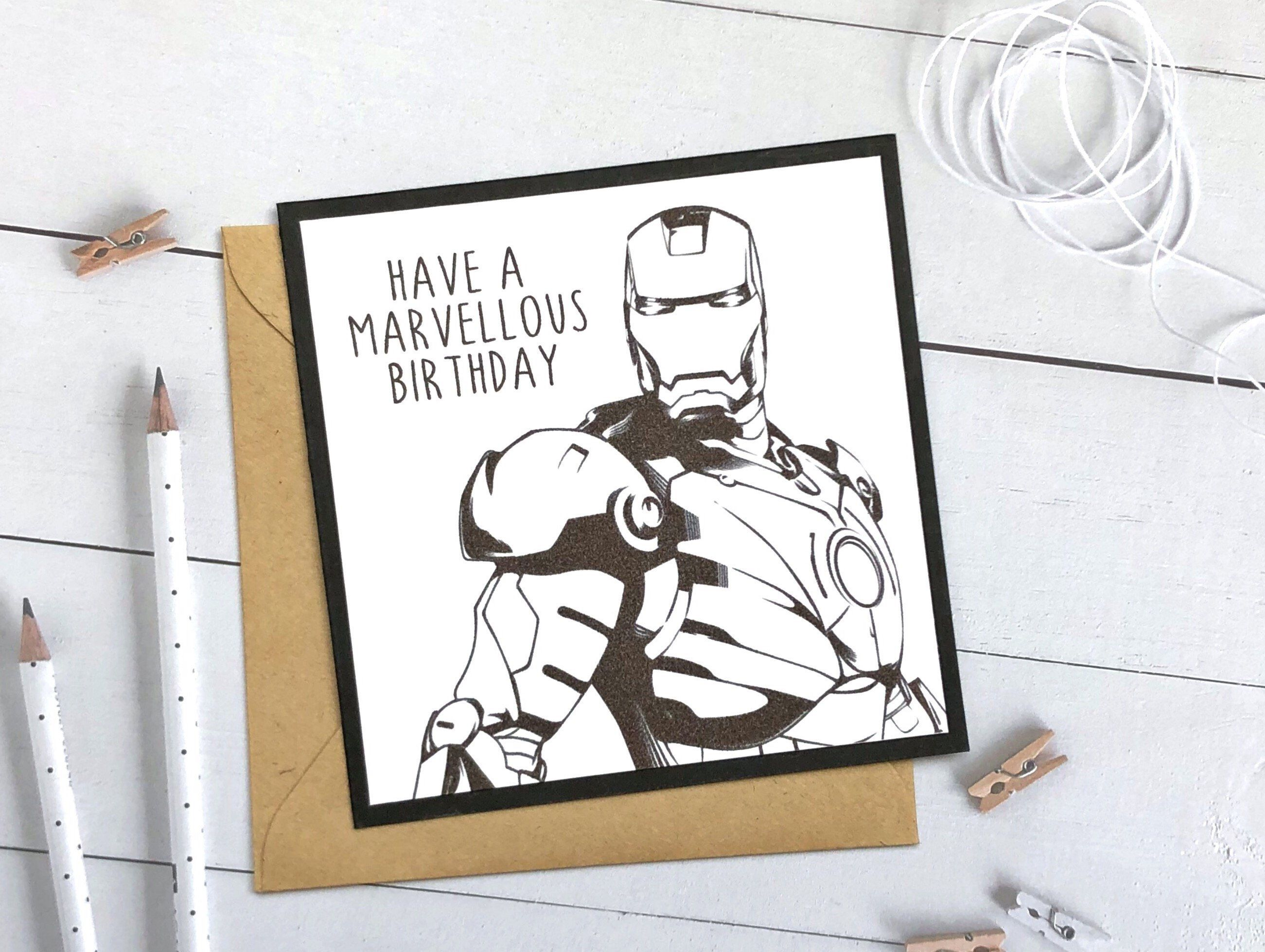 Excited To Share This Item From My Etsy Shop Iron Man Birthday Card Avengers Birthday Card Ma Funny Birthday Cards Iron Man Birthday Birthday Cards For Men