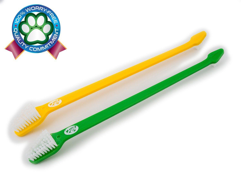 2cat Denty White Set of 2 Double Headed Toothbrush for